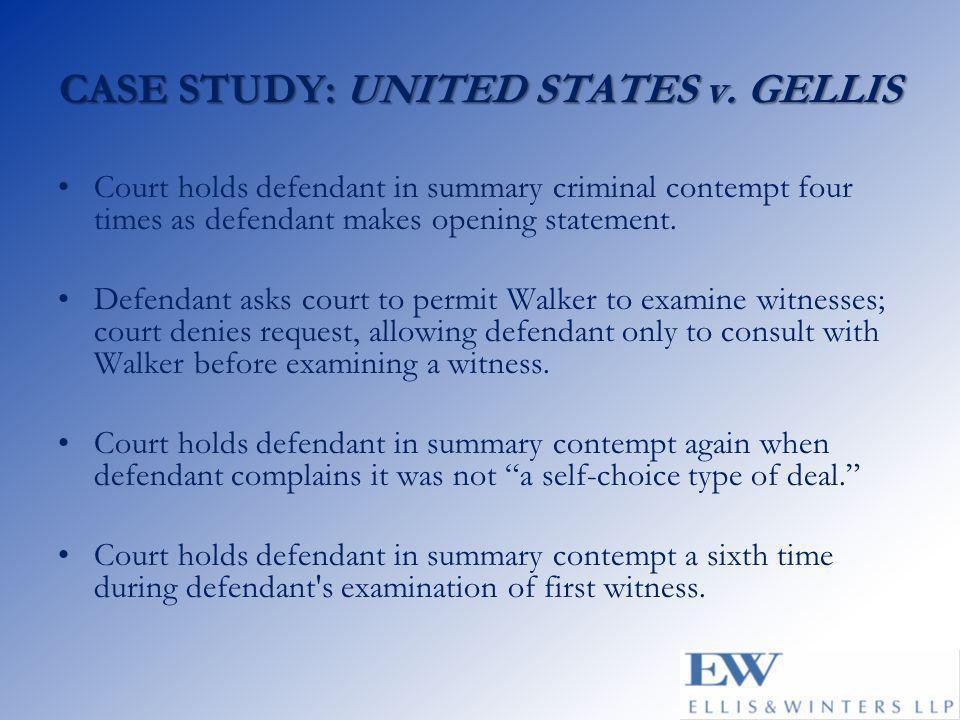 CASE STUDY: UNITED STATES v.