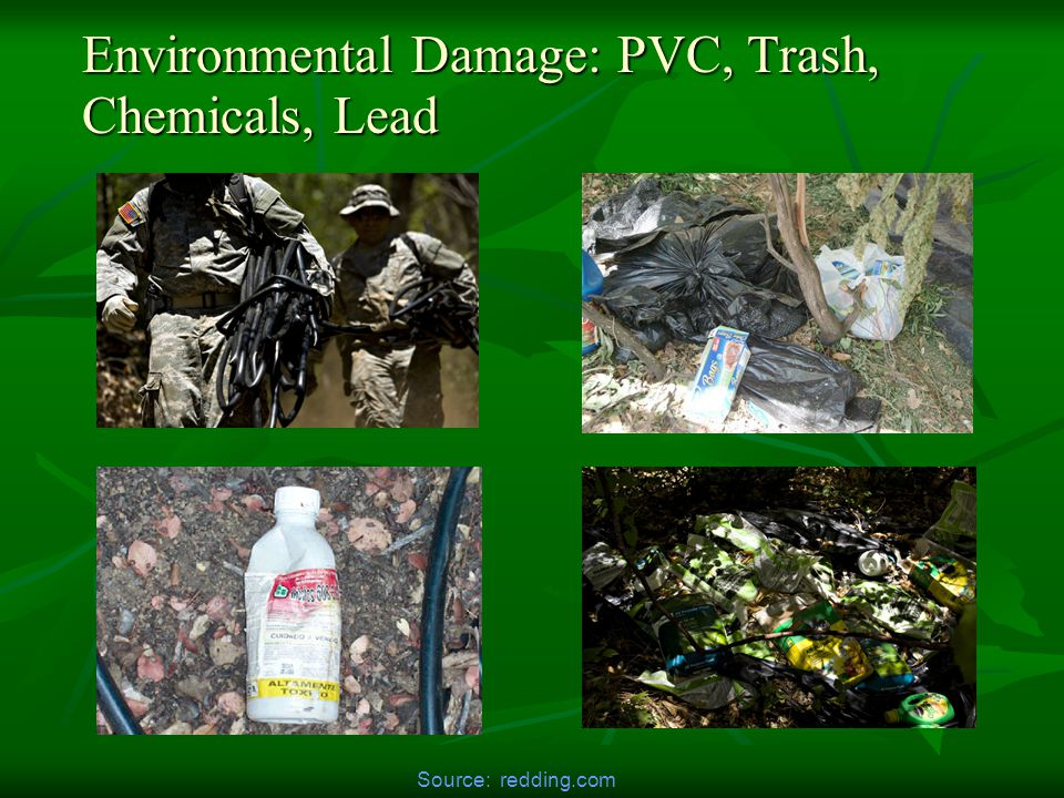 Environmental Damage: PVC, Trash, Chemicals, Lead Source: redding.com