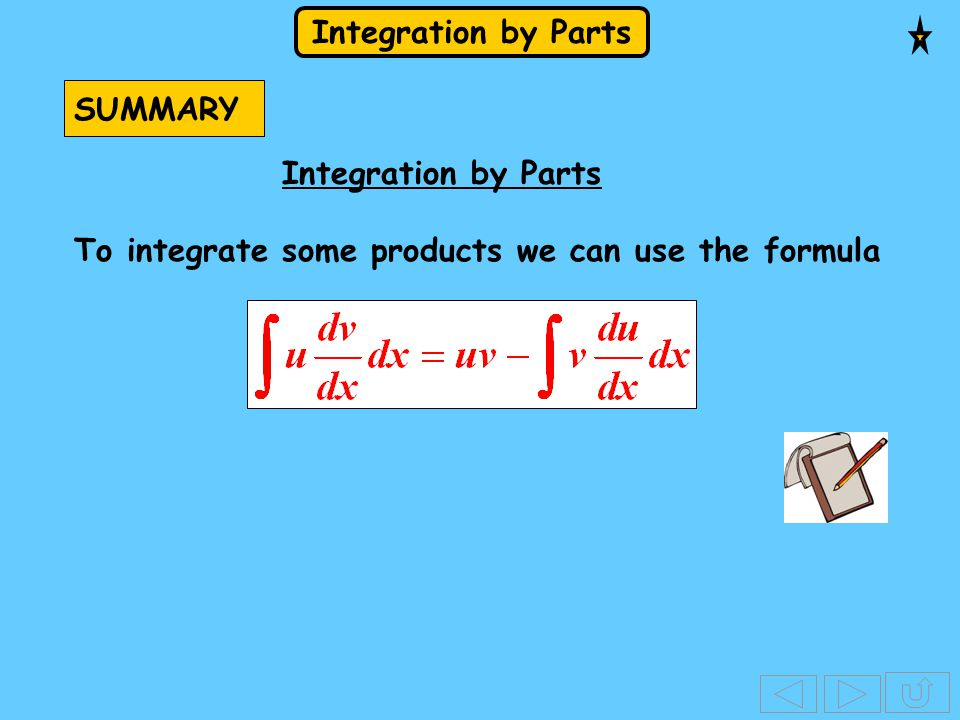to get... Using this formula means that we differentiate one factor, u So,