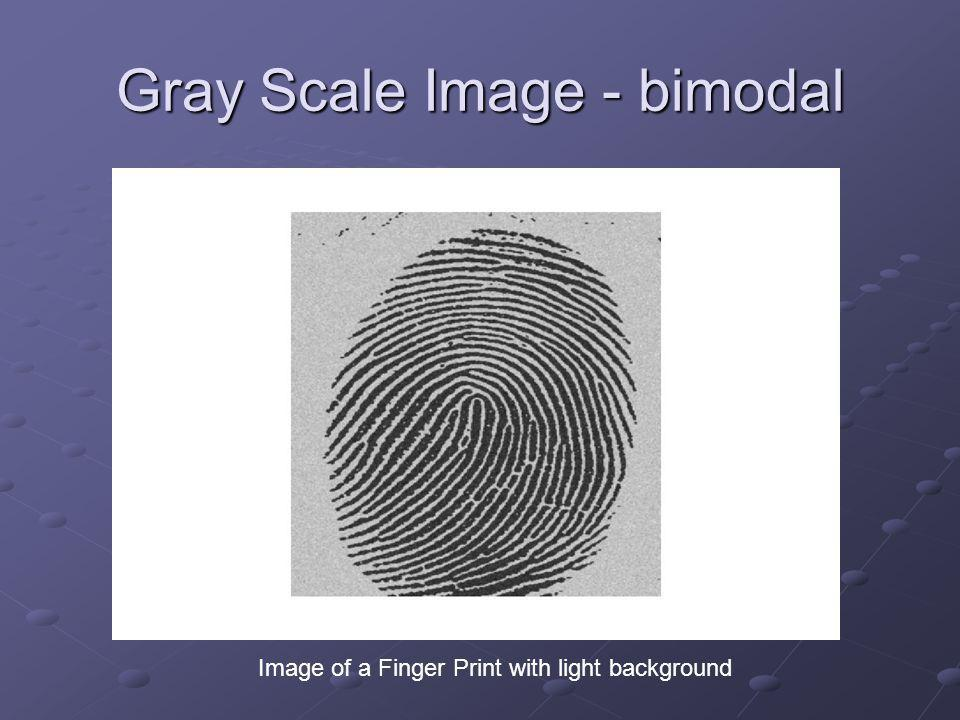 Gray Scale Image - bimodal Image of a Finger Print with light background