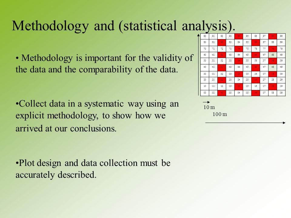 Methodology and (statistical analysis).