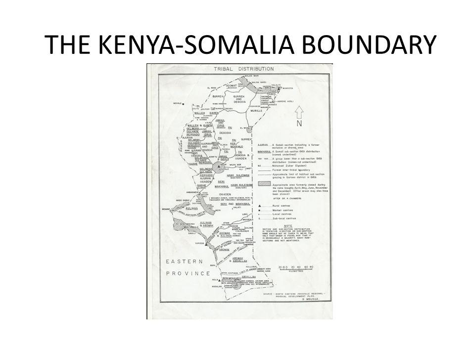 THE KENYA-SOMALIA BOUNDARY