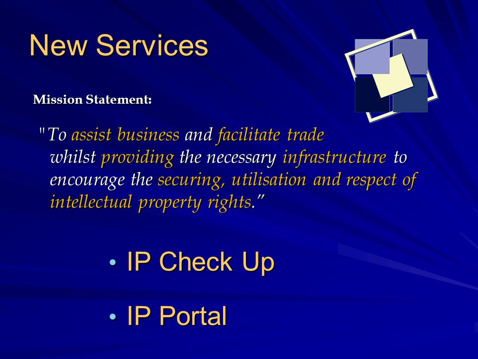 IP Check UP The IP Check UP is a new service offered by the Commerce Division to Maltese SME's.