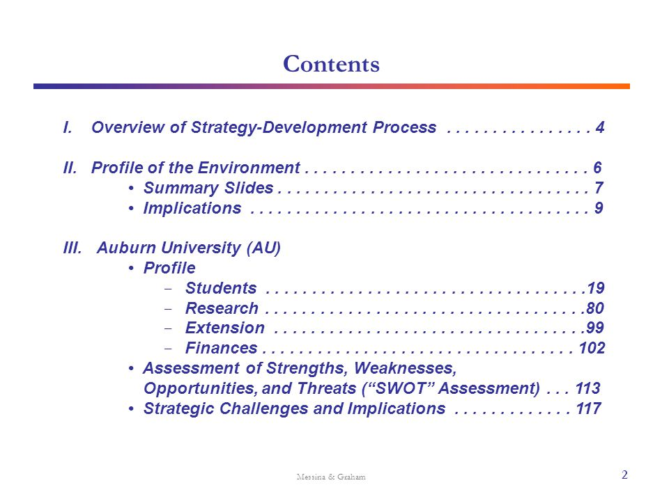 Implications for Auburn University Messina & Graham Forces Affecting Higher Education Strengthen image of value to compensate for possible reduction in applicant pool Constrain expense growth through improving efficiency and applying technology Increase resources available for need-based aid ENROLLMENT GROWTH Focusing on enrollment objectives AFFORDABILITY CHALLENGE Ensuring diverse access 13 TREND / IMPLICATIONS POSSIBLE AUBURN RESPONSE ILLUSTRATIVE