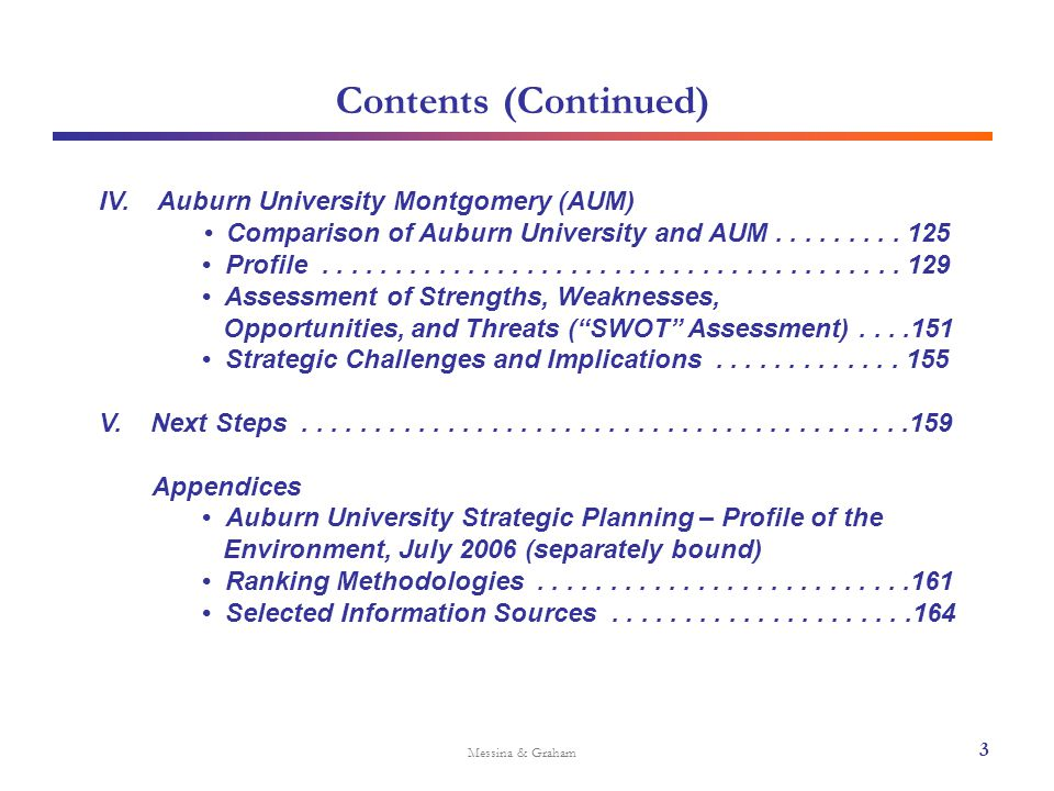 I.Overview of Strategy-Development Process Messina & Graham 1.