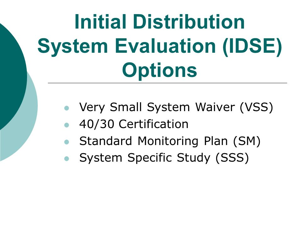 Standard Monitoring Requirements Population served Source water type Justification of Standard Monitoring sites Distribution system schematic Entry points, sources, and storage facilities Locations and dates of proposed Standard Monitoring sites Locations and dates of Stage 1 DBPR monitoring sites