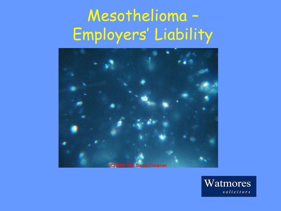 Mesothelioma – Employers' Liability