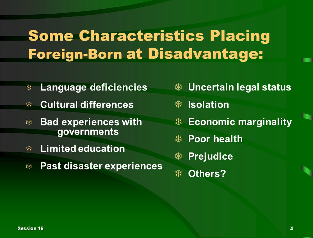 Session 165 Population Size and Composition  Approximately 28.4 million foreign-born people live in the United States.