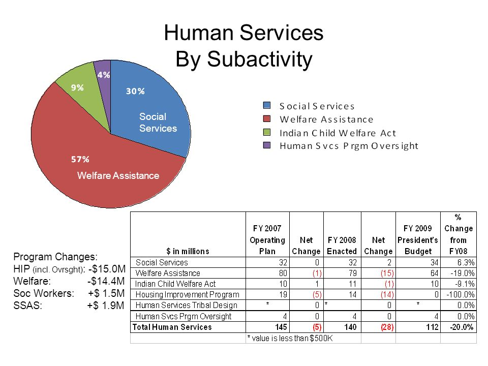 Human Services By Subactivity Program Changes: HIP (incl.