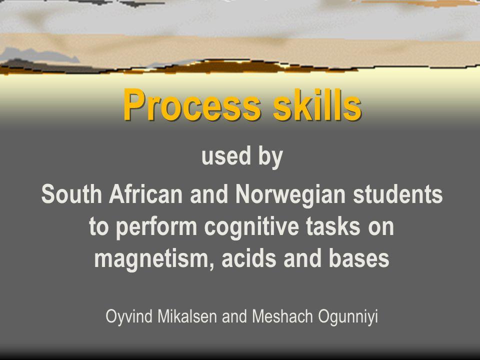 Assessment framework Categories of science performance: 1.