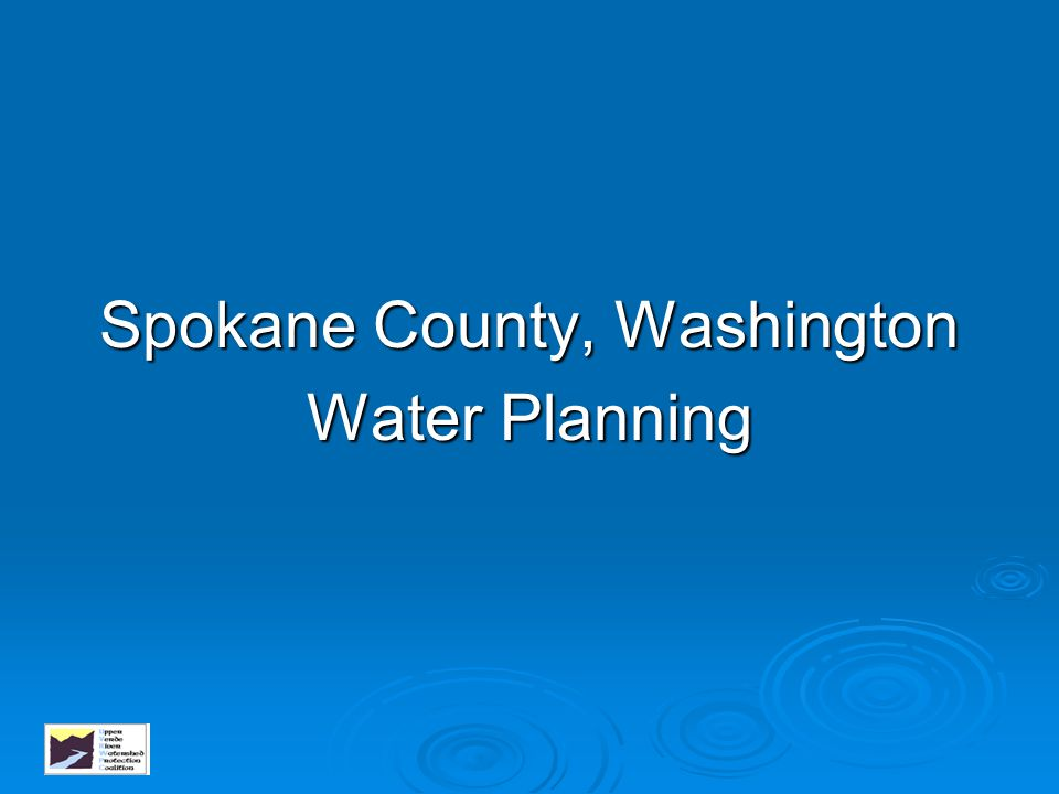 Montgomery County Goals   Provide an adequate supply of water,   Improve water quality and reduce water pollution,   Limit the impact of flooding, and   Promote better stormwater management practices.