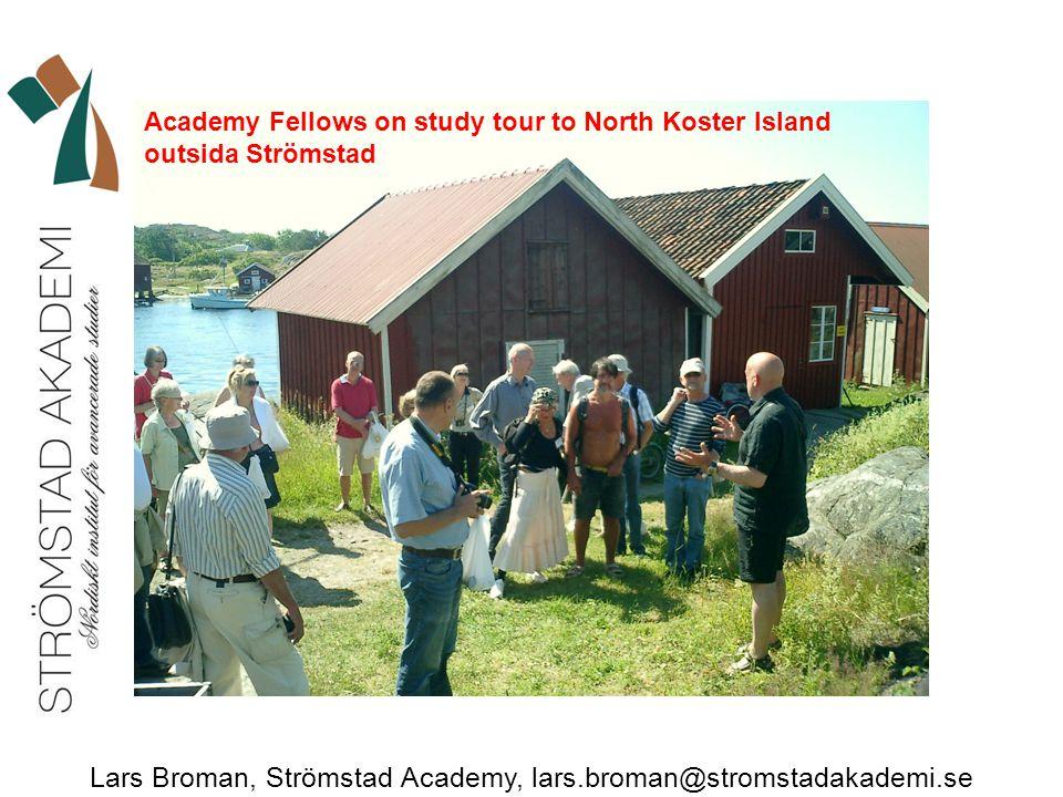 Lars Broman, Strömstad Academy, lars.broman@stromstadakademi.se Academy Fellows on study tour to North Koster Island outsida Strömstad