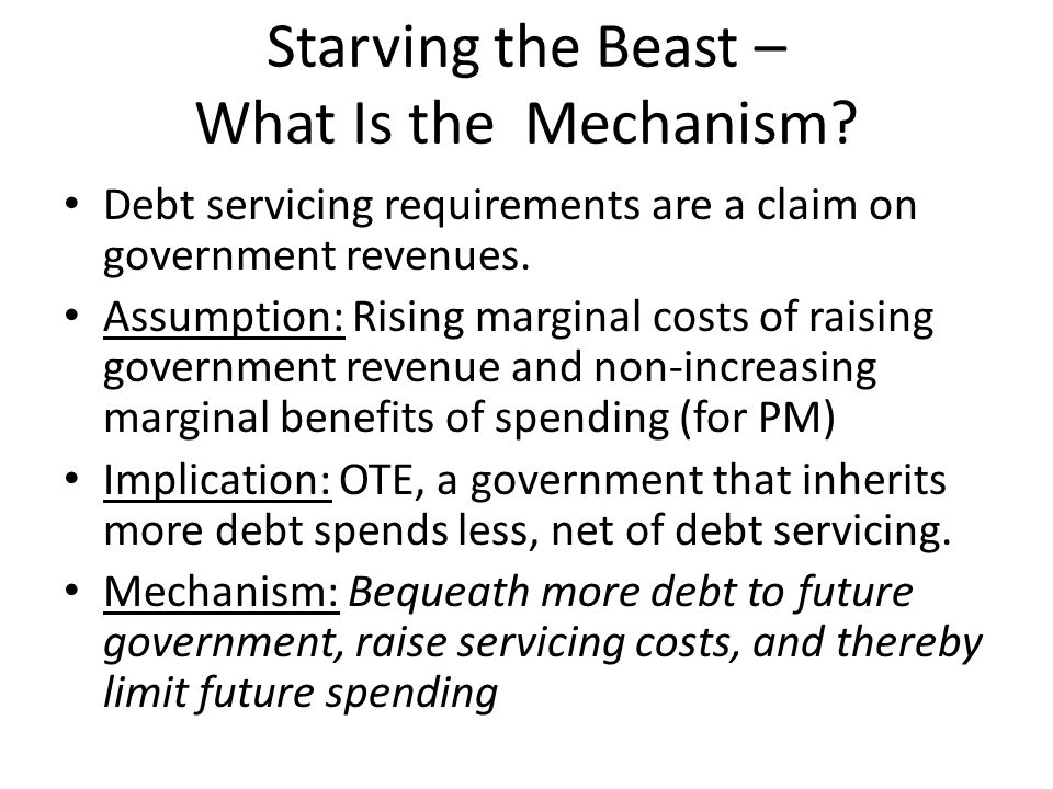 Starving the Beast – What Is the Mechanism.