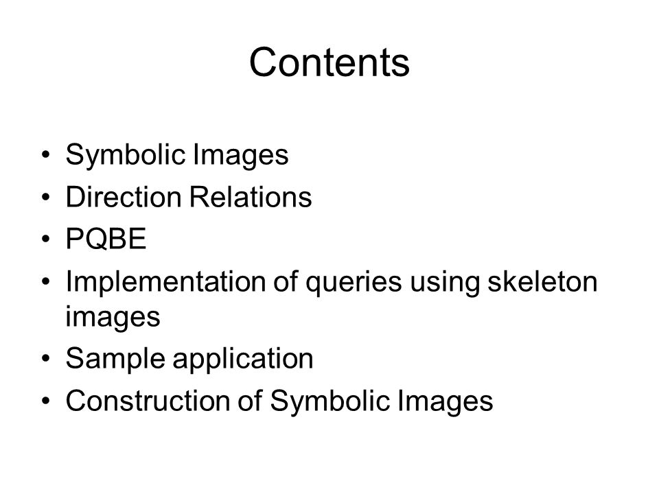 Querying object configurations