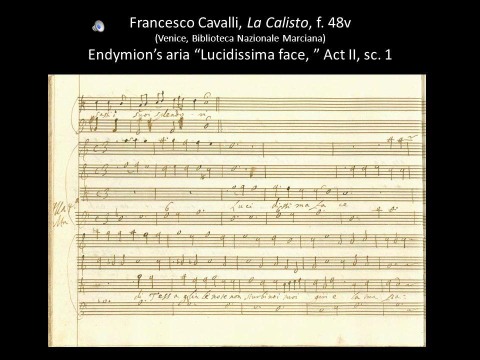 Francesco Cavalli, La Calisto, f.