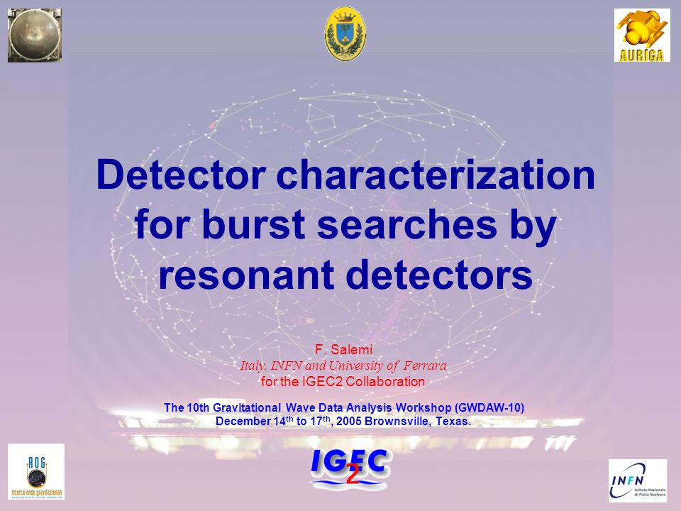 1 Detector characterization for burst searches by resonant detectors F.