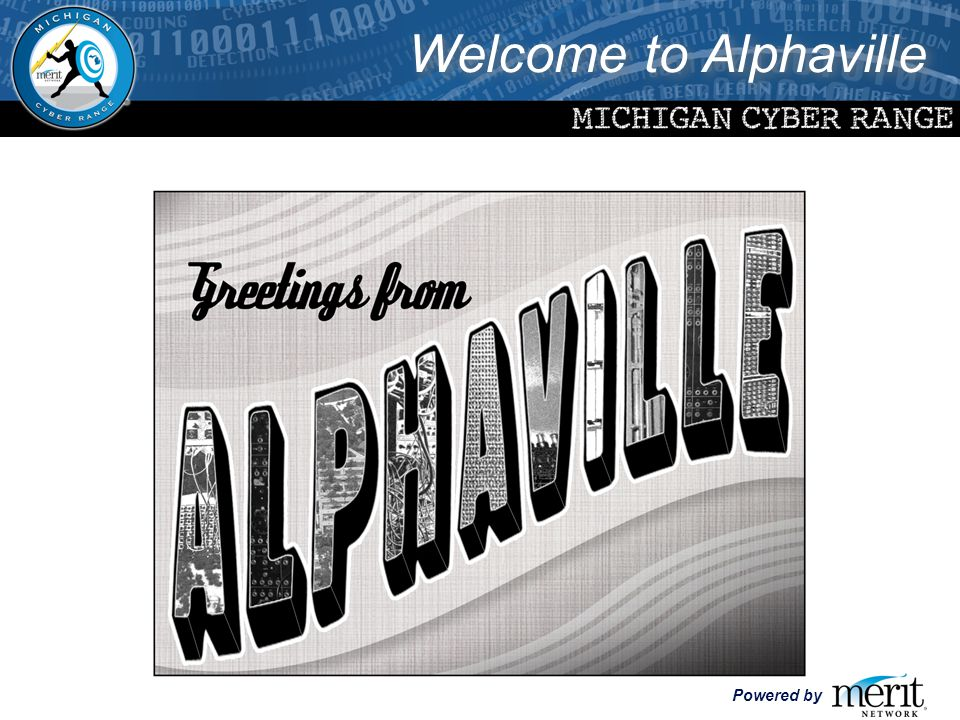 Powered by Welcome to Alphaville