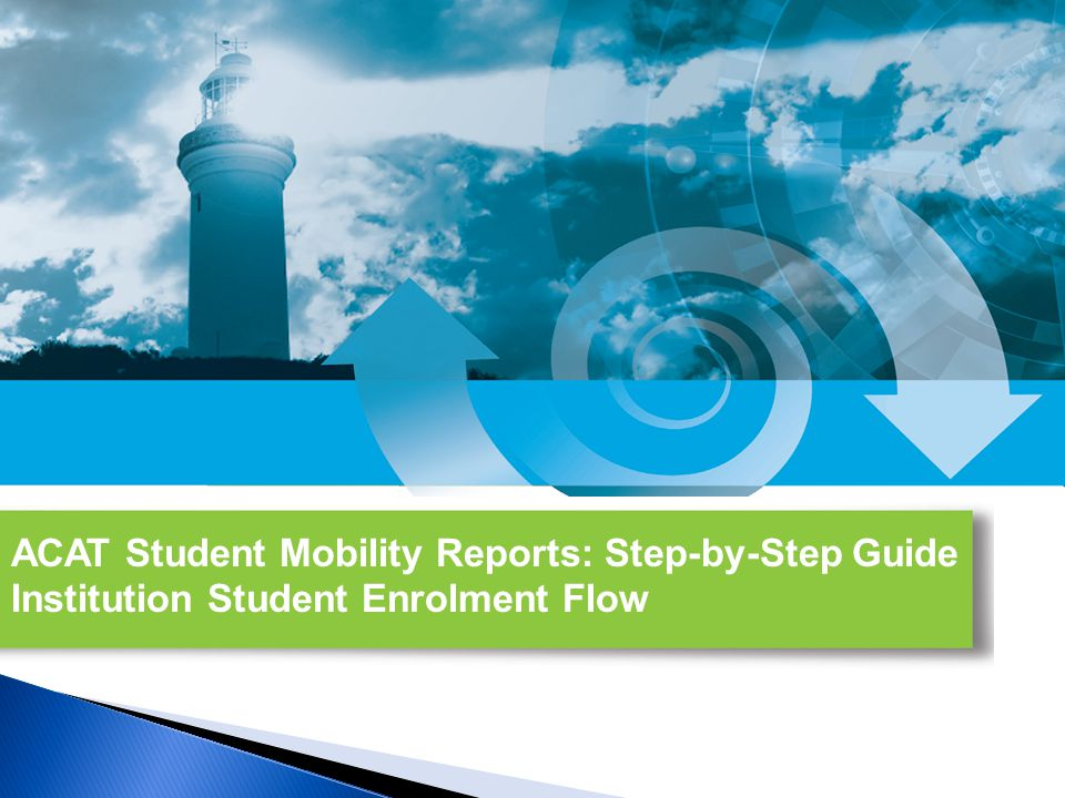 2 Welcome to one of the step-by-step user guides for the Alberta Council on Admissions and Transfer's (ACAT's) first three new Student Mobility Reports.