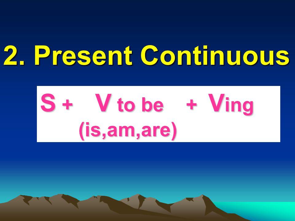 1. Present Simple S + V 1 (s,es)