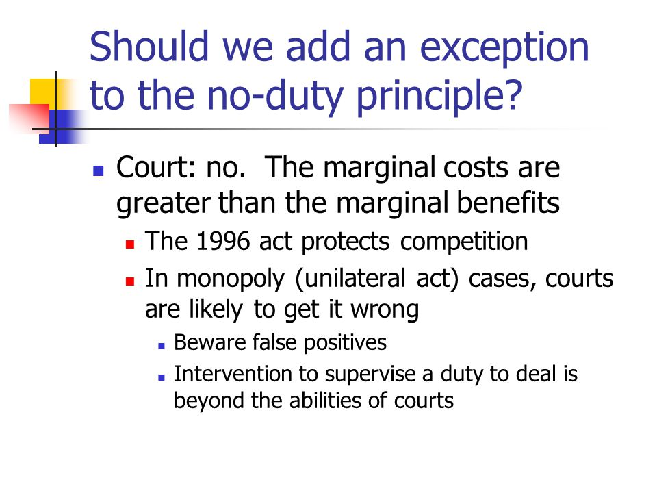 Europe – IMS 29 April 2004 Refusal to grant a license can constitute abuse only in exceptional circumstances Access must be indispensable, and Refusal must - prevent emergence of a new product for which there is potential consumer demand Be unjustified Exclude any competition on secondary market