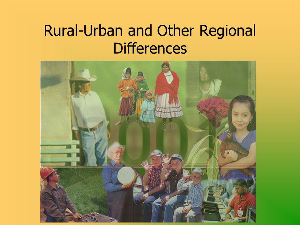 Rural-Urban and Other Regional Differences
