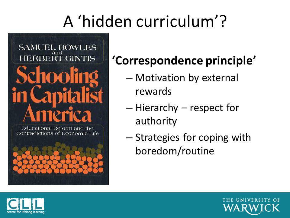 A 'hidden curriculum'.