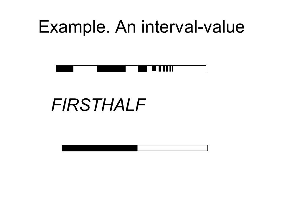 Example. An interval-value FIRSTHALF