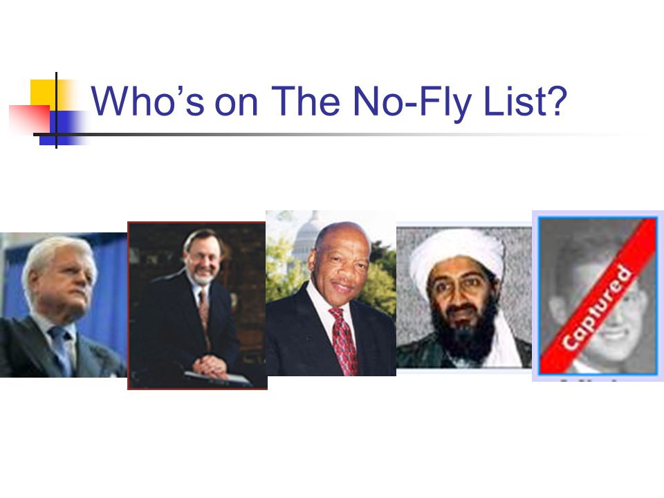 Who's on The No-Fly List?