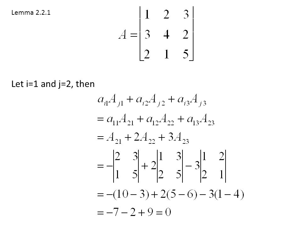 Lemma 2.2.1 Let i=1 and j=2, then