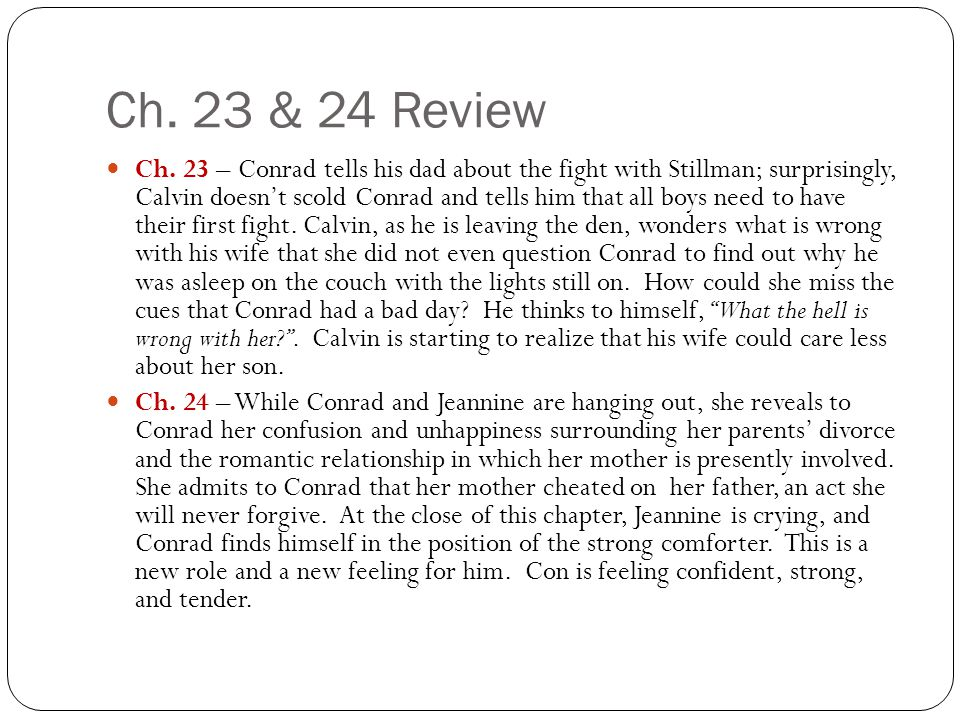 Ch.23 & 24 Review Ch.