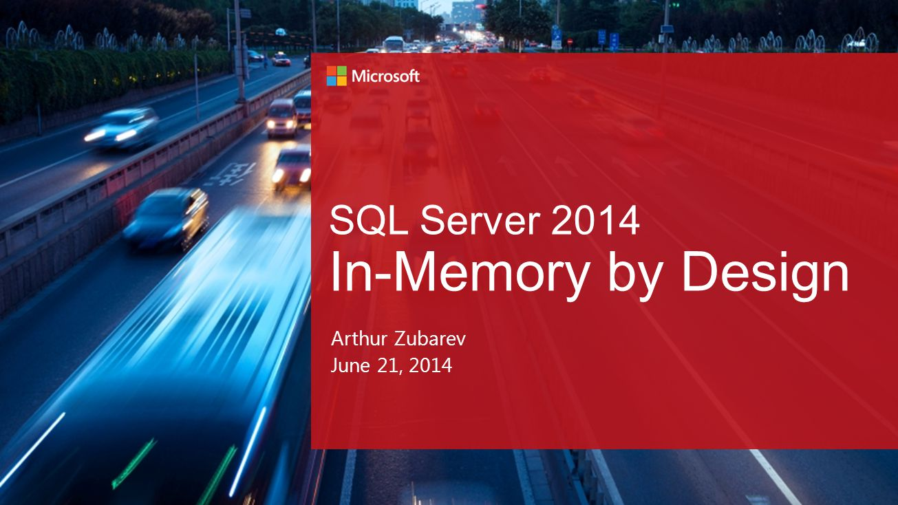 Drive Real-Time Business with Real-Time Insights Faster transactions Faster queries Faster insights All built-in to SQL Server 2014.