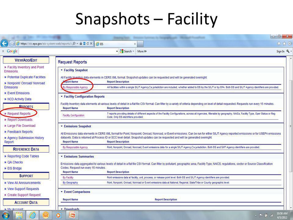 Snapshots – Facility