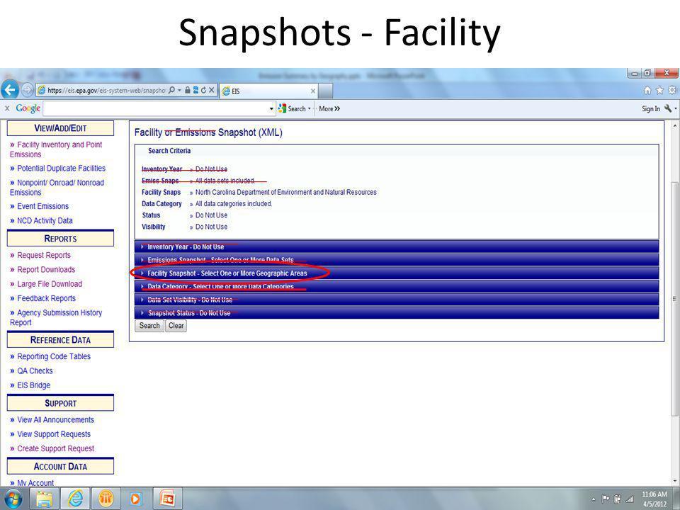 Snapshots - Facility