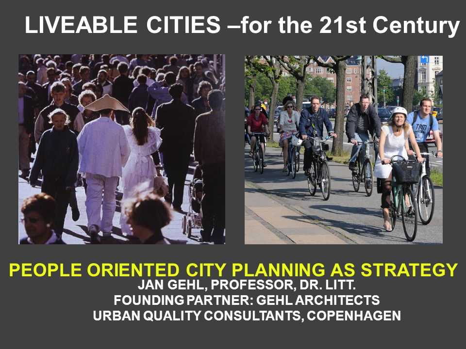 Going to work in the City of Copenhagen 37% use bicycle 27% drive car 33% use public transit 5% walk