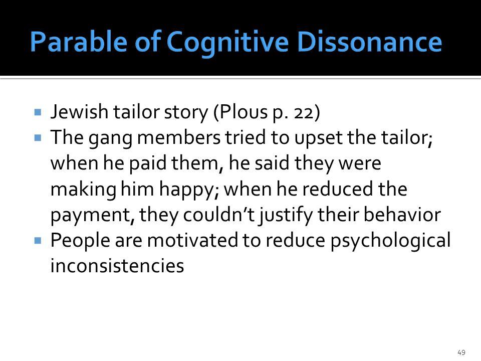  Jewish tailor story (Plous p.