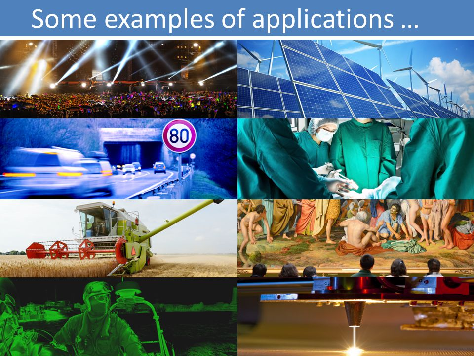 Some examples of applications …