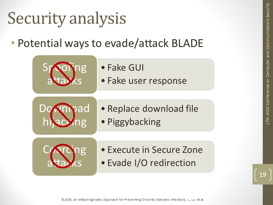 BLADE: An Attack-Agnostic Approach for Preventing Drive-By Malware Infections, L.