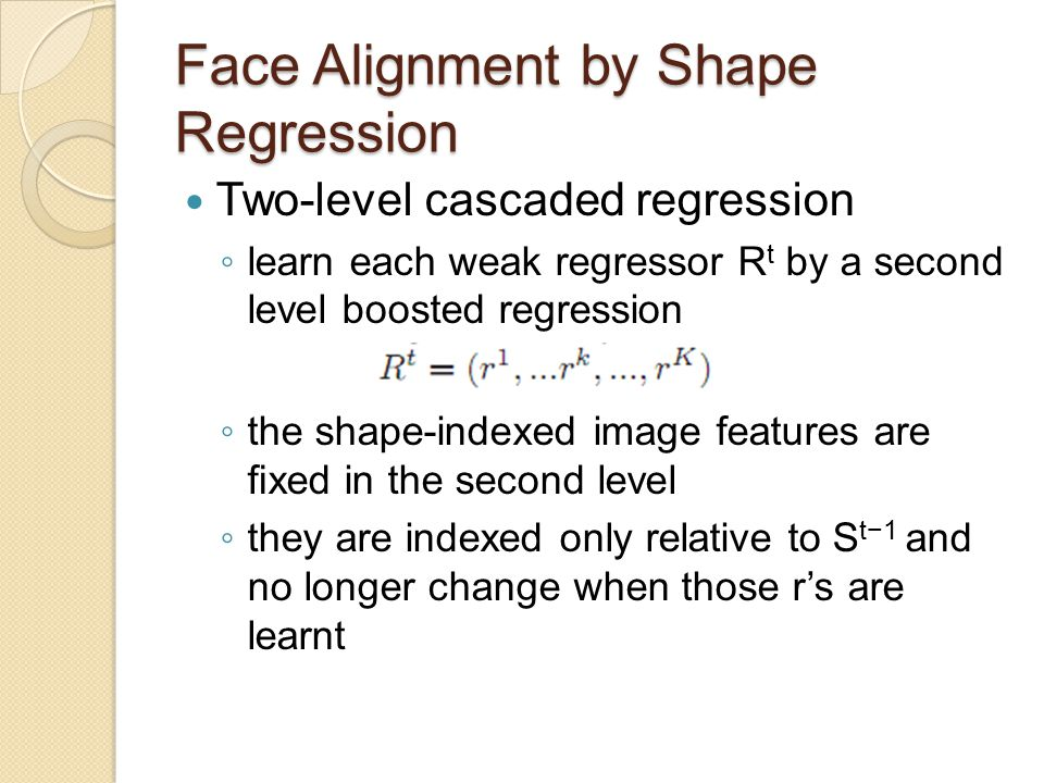 Experiments Comparison with previous work ◦ Comparison to [1] on LFPW ◦ Comparison to [12] on LFW87 [1] Localizing parts of faces using a concensus of exemplars.