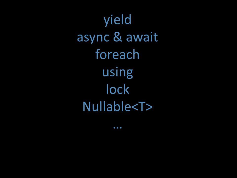 yield async & await foreach using lock Nullable …