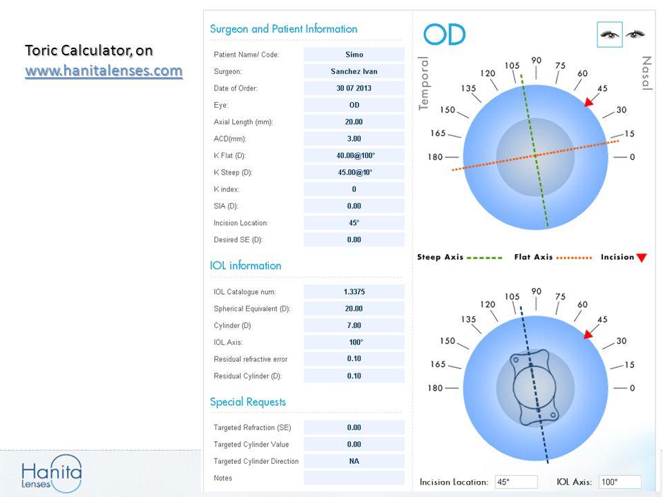 Toric Calculator, on www.hanitalenses.com