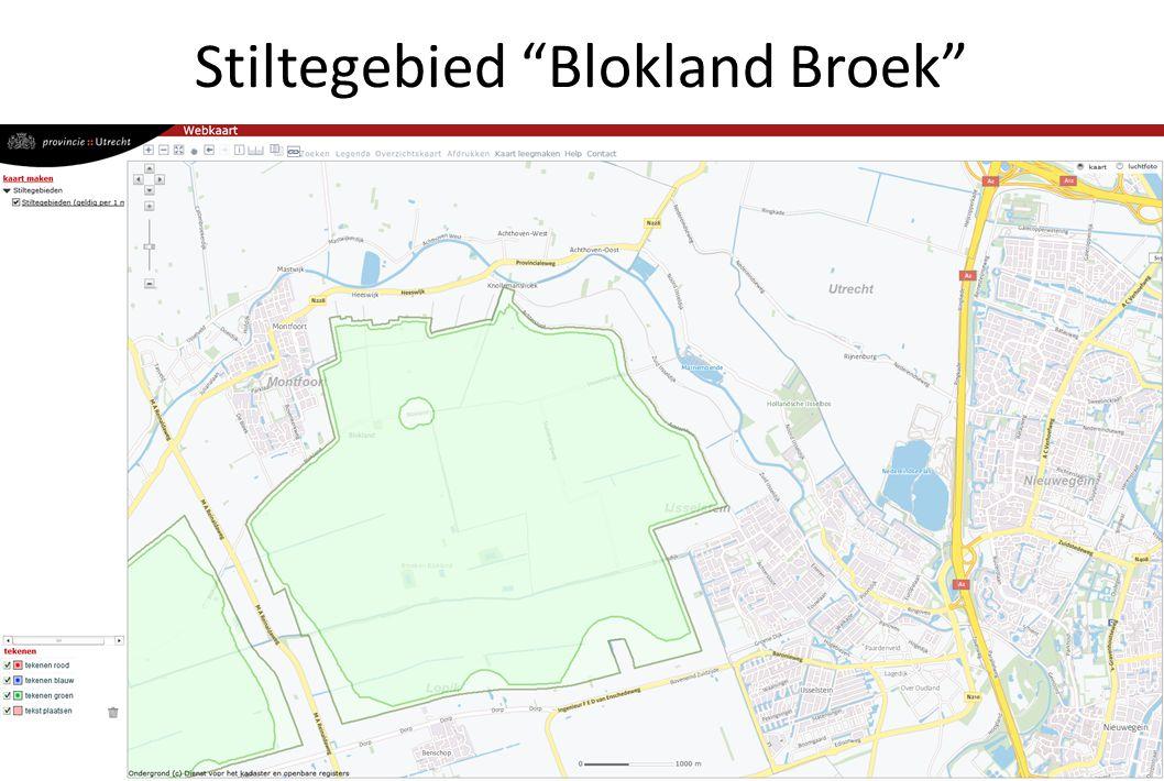 Stiltegebieden in de provincie Utrecht
