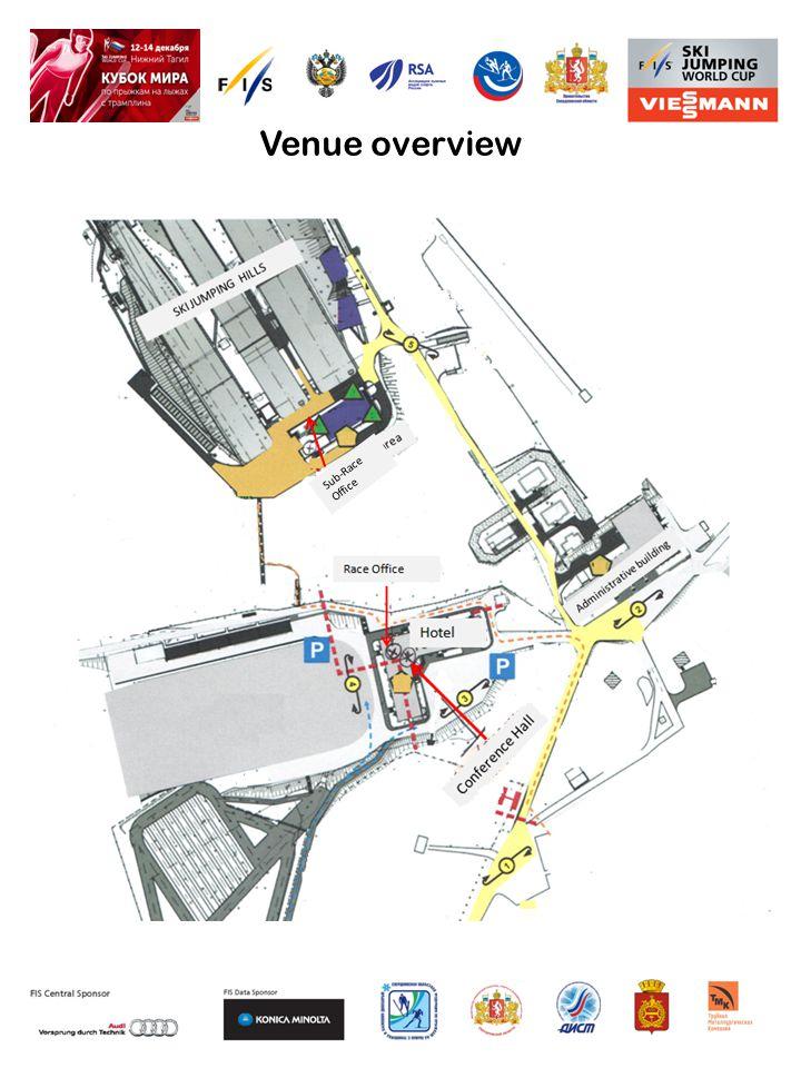Sub-Race Office Venue overview