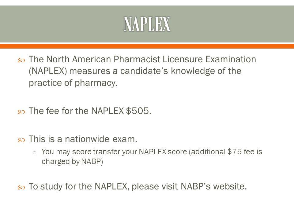  The Multistate Pharmacy Jurisprudence Examination serves as the pharmacy law exam.