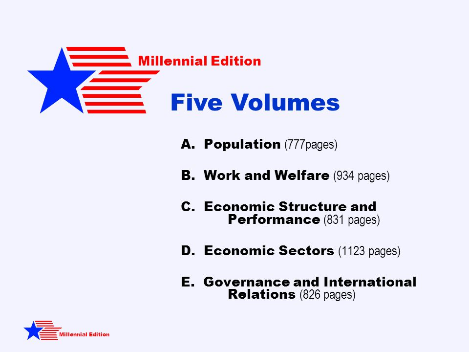 A. Population (777pages) B. Work and Welfare (934 pages) C.