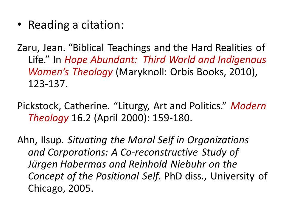 Reading a citation: Zaru, Jean.