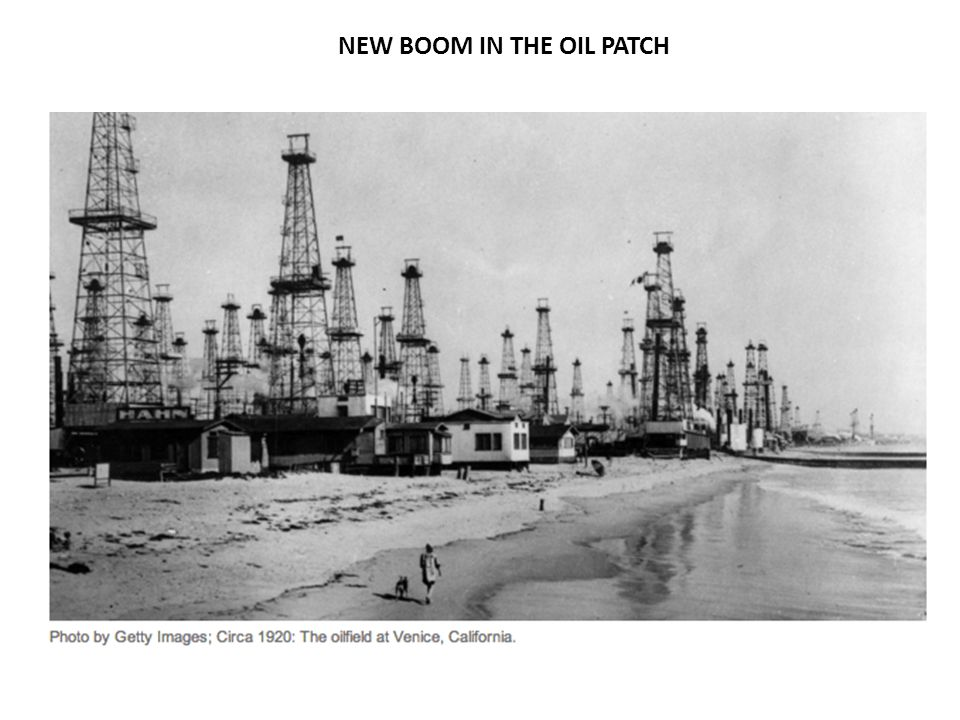 NEW BOOM IN THE OIL PATCH