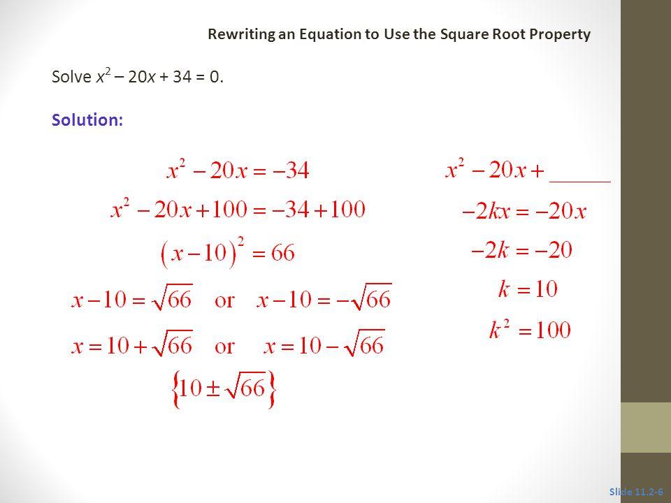 Solution: Solve x 2 + 4x = 1.