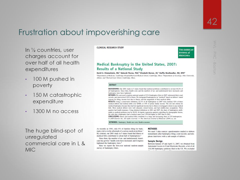 Frustration about inappropriate care WVL - PHC - Boston 41