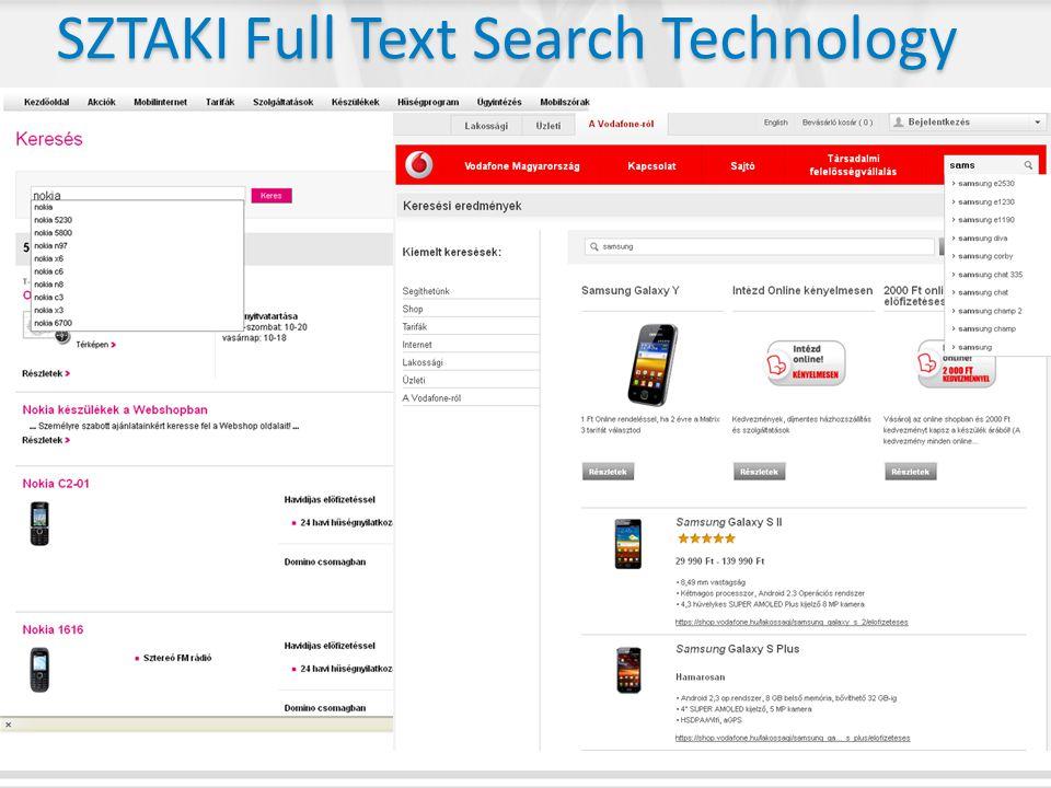 SZTAKI Full Text Search Technology