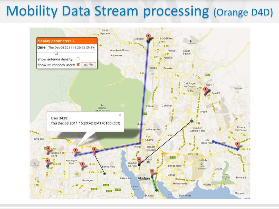Mobility Data Stream processing (Orange D4D)